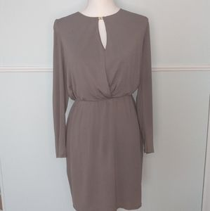 Trina Turk beige long sleeved dress size 4 EUC